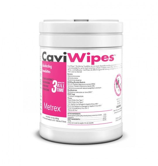 Metrex CaviWipes - Surface Disinfectant Wipes