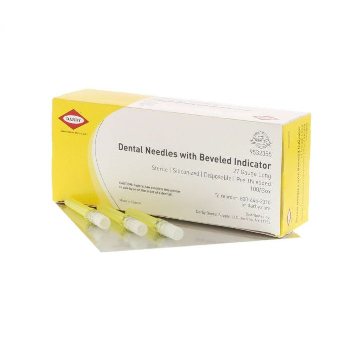 Darby Dental Needles with Bevel Indicator (Sterile)