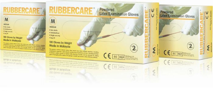 Rubbercare Latex Exam Gloves (Powdered)