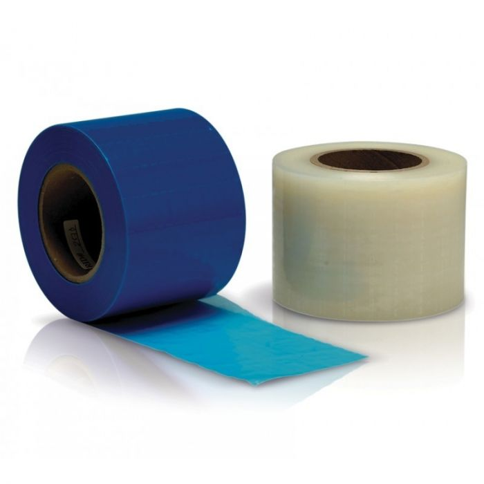 Dukal Barrier Film – Non-Stick Edges, Perforated Sheets, Blue (4x6 inches)