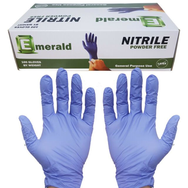 Emerald Latex Exam Gloves (Powdered) – Extra Large