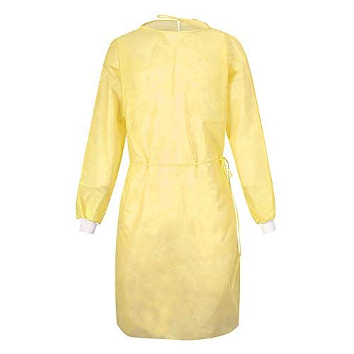 HD Fashion Level 2 Disposable Medical Gowns (Yellow / Large)