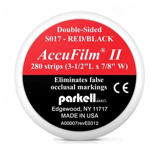 Parkell AccuFilm Occlusal Articulating Film (Double-sided Red/Black)
