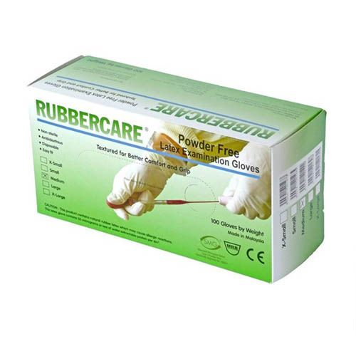 Rubbercare Latex Exam Gloves – Powdered (Large)